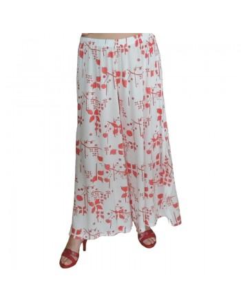 Pantalon jupe blanc