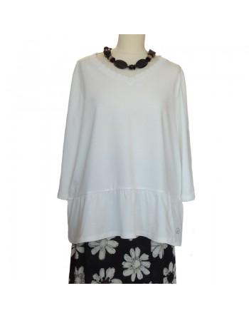 T shirt blanc en coton