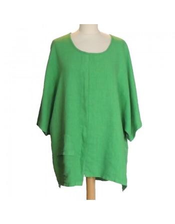 Tunique en lin verte