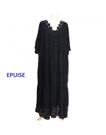 Longue robe noire dentelle...