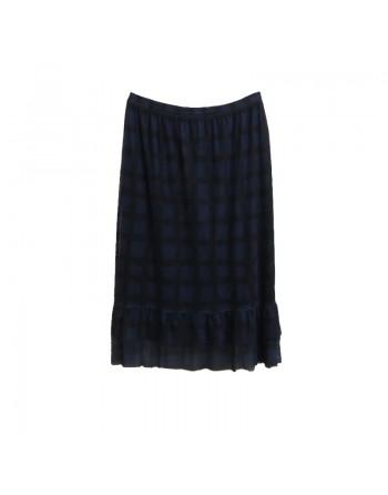 Longue jupe noire et bleue