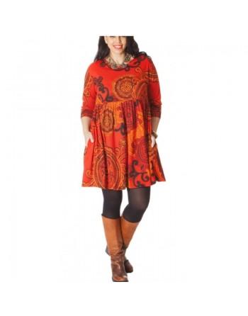 Tunique orange en coton