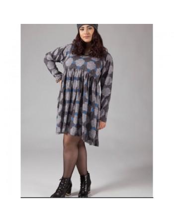 Longue tunique grise en coton